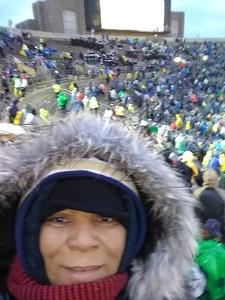 Betty attended Notre Dame Fighting Irish vs. Navy - NCAA Football on Nov 18th 2017 via VetTix