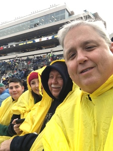 Michael attended Notre Dame Fighting Irish vs. Navy - NCAA Football on Nov 18th 2017 via VetTix