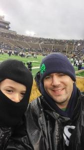 Eric attended Notre Dame Fighting Irish vs. Navy - NCAA Football on Nov 18th 2017 via VetTix