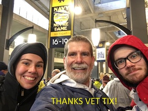 George attended Notre Dame Fighting Irish vs. Navy - NCAA Football on Nov 18th 2017 via VetTix