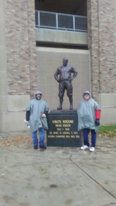 Jamie attended Notre Dame Fighting Irish vs. Navy - NCAA Football on Nov 18th 2017 via VetTix