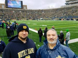 Daniel attended Notre Dame Fighting Irish vs. Navy - NCAA Football on Nov 18th 2017 via VetTix