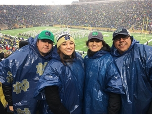 Esequiel attended Notre Dame Fighting Irish vs. Wake Forest - NCAA Football - Military Appreciation Game on Nov 4th 2017 via VetTix