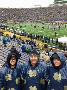 Jonathan Stenzel attended Notre Dame Fighting Irish vs. Wake Forest - NCAA Football - Military Appreciation Game on Nov 4th 2017 via VetTix