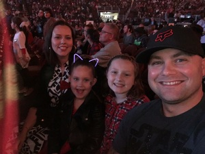 The Copestick family attended Katy Perry: Witness the Tour With Noah Cyrus on Oct 12th 2017 via VetTix