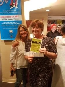 Jodi attended Balls - for Mature Audiences - Presented by Stages Repertory Theatre on Oct 11th 2017 via VetTix