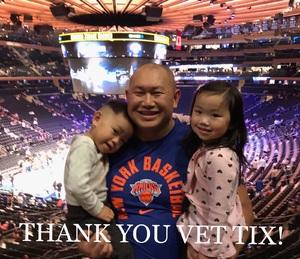 Oura attended New York Knicks vs. Houston Rockets - Pre-season NBA on Oct 9th 2017 via VetTix