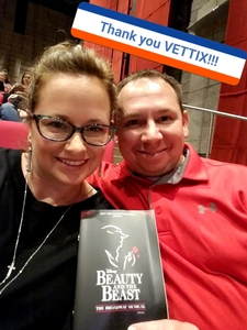 James attended Disney's Beauty and the Beast on Nov 9th 2017 via VetTix