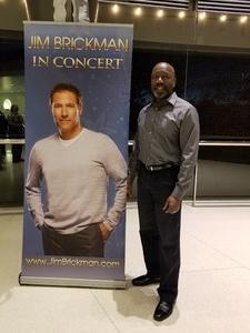 Seymour Mitchell attended Jim Brickman Holiday Tour on Nov 26th 2017 via VetTix