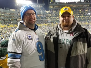 Sean attended Green Bay Packers vs. Detroit Lions - NFL on Nov 6th 2017 via VetTix