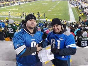 James attended Green Bay Packers vs. Detroit Lions - NFL on Nov 6th 2017 via VetTix