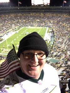 Damon attended Green Bay Packers vs. Detroit Lions - NFL on Nov 6th 2017 via VetTix