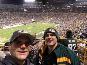 Jeremy attended Green Bay Packers vs. Detroit Lions - NFL on Nov 6th 2017 via VetTix