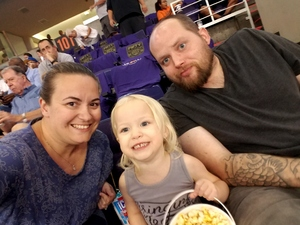 Ashley, Jonny and Samantha attended Phoenix Suns vs. Portland Trail Blazers - NBA - Home Opener! on Oct 18th 2017 via VetTix