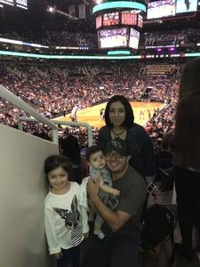 Noe attended Phoenix Suns vs. Portland Trail Blazers - NBA - Home Opener! on Oct 18th 2017 via VetTix