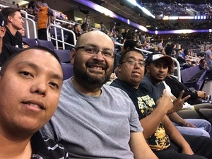 Jake attended Phoenix Suns vs. Brooklyn Nets - NBA on Nov 6th 2017 via VetTix