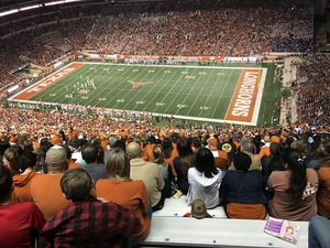 Danielle attended Texas Longhorns vs. Kansas - NCAA Football - Military Appreciation Night on Nov 11th 2017 via VetTix