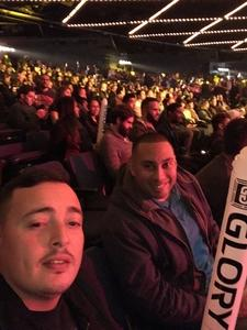 Luis attended Glory 48 New York - Presented by Glory Kickboxing - Live at Madison Square Garden on Dec 1st 2017 via VetTix