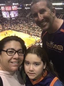Elizabeth attended Phoenix Suns vs. Miami Heat - NBA on Nov 8th 2017 via VetTix