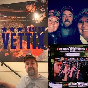 Kyle attended Anaheim Ducks vs. Vancouver Canucks - NHL - Military Appreciation Night! on Nov 9th 2017 via VetTix