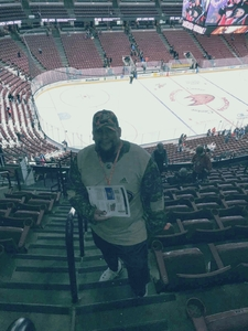 Mark attended Anaheim Ducks vs. Vancouver Canucks - NHL - Antis Roofing Community Corner! on Nov 9th 2017 via VetTix