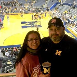Manuel attended University of Michigan vs. North Florida - NCAA Mens Basketball on Nov 11th 2017 via VetTix
