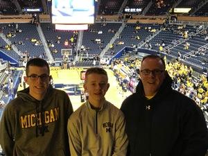 David attended University of Michigan vs. North Florida - NCAA Mens Basketball on Nov 11th 2017 via VetTix