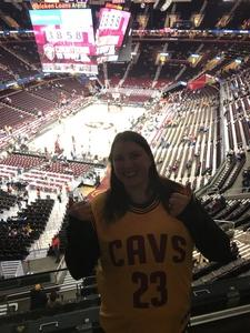 Shelly attended Cleveland Cavaliers vs. Chicago Bulls - NBA on Oct 24th 2017 via VetTix