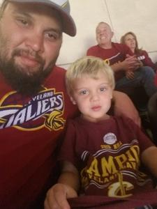 Joseph attended Cleveland Cavaliers vs. Chicago Bulls - NBA on Oct 24th 2017 via VetTix