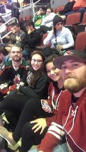 David attended Arizona Coyotes vs. Carolina Hurricanes - NHL - Military Appreciation Game! on Nov 4th 2017 via VetTix