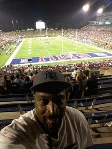 Quinn attended Smu Mustangs vs. Central Florida - NCAA Football on Nov 4th 2017 via VetTix
