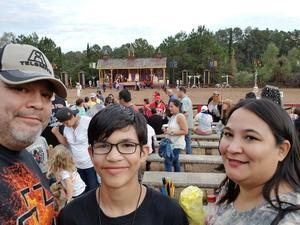 Melanie attended Texas Renaissance Festival on Nov 11th 2017 via VetTix