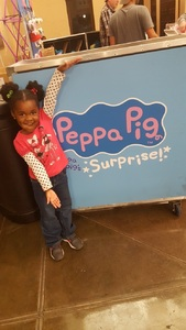 Arthur attended Peppa Pig Live on Nov 28th 2017 via VetTix