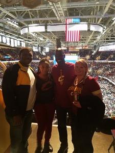Edward attended Cleveland Cavaliers vs. Milwaukee Bucks - NBA - Military Appreciation Night! on Nov 7th 2017 via VetTix