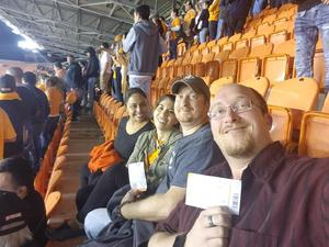 William attended Houston Dynamo vs. Portland Timbers - Conference Semi-finals - MLS on Oct 30th 2017 via VetTix