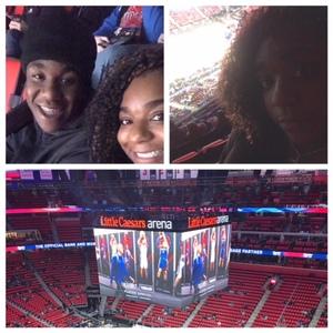 Tonya attended Detroit Pistons vs. Atlanta Hawks - NBA - Military Appreciation Game! on Nov 10th 2017 via VetTix