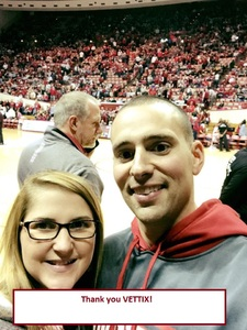 Alexander attended Indiana Hoosiers vs. South Florida - NCAA Men's Basketball on Nov 19th 2017 via VetTix