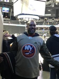 Duane attended New York Islanders vs. Carolina Hurricanes - NHL on Nov 16th 2017 via VetTix