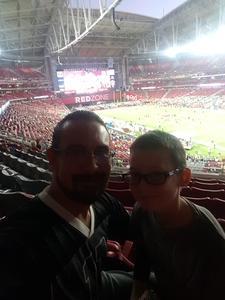 Gabriel attended Arizona Cardinals vs. Seattle Seahawks - NFL Thursday Night Football on Nov 9th 2017 via VetTix