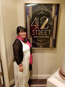 arlene attended 42nd Street on Nov 25th 2017 via VetTix