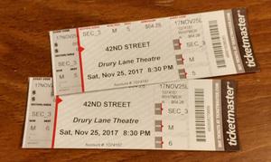 Jim Whitmer attended 42nd Street on Nov 25th 2017 via VetTix