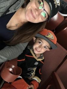 Christie attended Anaheim Ducks vs. Vegas Golden Knights - NHL on Nov 22nd 2017 via VetTix