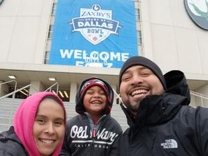 Antonio attended 2017 Zaxby's Heart of Dallas Bowl - West Virginia Mountaineers vs. Utah Utes - NCAA Football on Dec 26th 2017 via VetTix