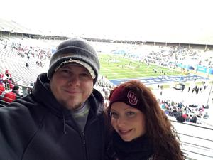 Allyson attended 2017 Zaxby's Heart of Dallas Bowl - West Virginia Mountaineers vs. Utah Utes - NCAA Football on Dec 26th 2017 via VetTix