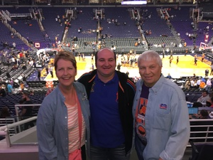 Larry attended Phoenix Suns vs. New Orleans Pelicans - NBA on Nov 24th 2017 via VetTix