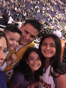 Jose attended Phoenix Suns vs. Los Angeles Lakers - NBA on Nov 13th 2017 via VetTix