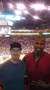 Gregory attended Phoenix Suns vs. Houston Rockets - NBA on Nov 16th 2017 via VetTix