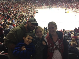 Gaston attended Arizona Coyotes vs. Los Angeles Kings - NHL on Nov 24th 2017 via VetTix