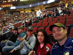 Rodolfo attended Arizona Coyotes vs. Los Angeles Kings - NHL on Nov 24th 2017 via VetTix