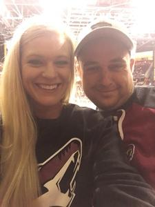 rachel attended Arizona Coyotes vs. Los Angeles Kings - NHL on Nov 24th 2017 via VetTix